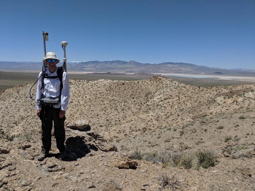 Magnetic surveying near Silver Peak, NV, June 2019, U.S. Geological Survey